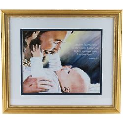 I Knew You Before Gold Framed Print