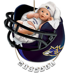 Personalized Baby's First Christmas Baltimore Ravens Ornament