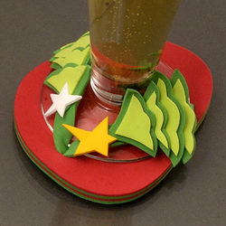 Holiday Flip-Flop Drink Coasters