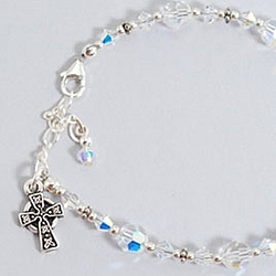 Swarovski Crystal First Communion Bracelet