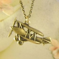Nostalgic Airplane Necklace