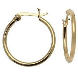 24k Gold-Over-Silver Hoop Earrings