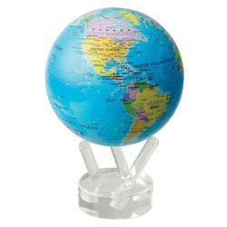 "4.5"" Rotating Globe with Political Map"