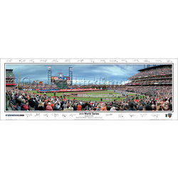 San Francisco Giants 2010 World Series Panoramic Framed Print