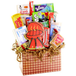 BBQ Gingham Retro Candy Basket