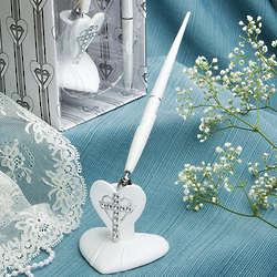 Cross and Heart Design Pen Set