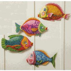 Funky Fish Metal Wall Decor