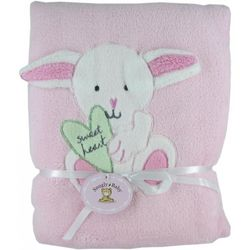 Snugly Bunny Pink Fleece Baby Blanket