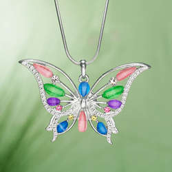Color of Spring Butterfly Necklace