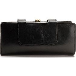 Vintage Black Leather Nancy Clutch Wallet