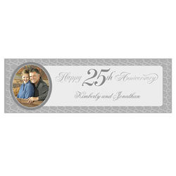 Personalized 25th Anniversary Small Photo Banner