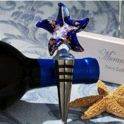 Murano Glass Starfish Wine Stopper