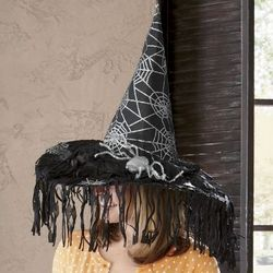 Spiderweb Witch's Hat