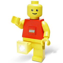 Red LEGO Figure Flashlight