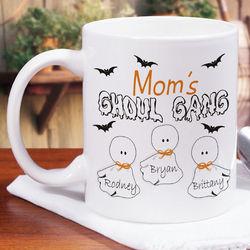 Ghoul Gang Personalized Halloween Coffee Mug