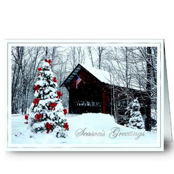 Personalized Holiday Bridge Greeting Cards