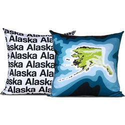 Topographical US State Map Pillow