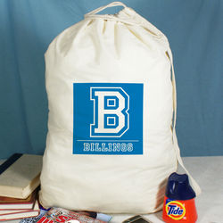 Personalized Natural Cotton Laundry Bag