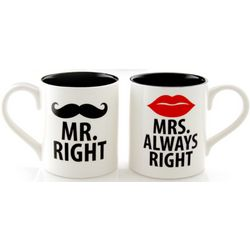 Mr. Right and Mrs. Always Right Mug Set