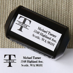 Namely Yours Address Rubber Stamper