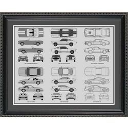 Ford Mustang Blueprint Collection Art Print