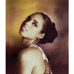 Alicia Keys Oil Painting Giclee