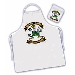 Notre Dame Tail Gate Apron and Oven Mitt