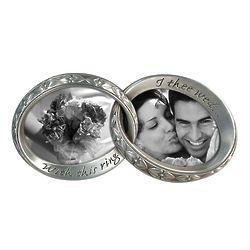 Linked Wedding Rings Photo Frame