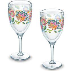 2 Boho Chic 9 Oz. Tervis Wine Glasses