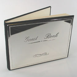 Silver Tone Engravable Guestbook