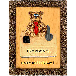 Bear Plaque Personalized for Boss or Coworker