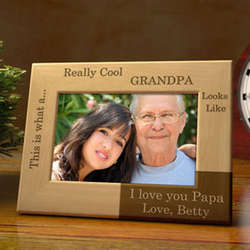 Personalized You're Really Cool Wooden Picture Frame