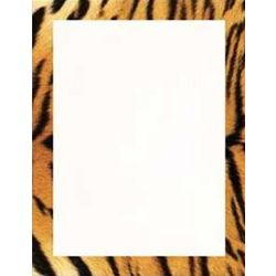Tiger Animal Print Stationery Paper