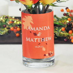 Fall Wedding Personalized Table Decoration Vase