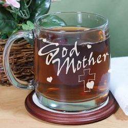 Engraved Godmother Glass Mug