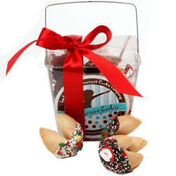 Christmas Pail of Six Merry Fortune Cookies