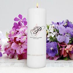 Personalized Round Perfect Panache Unity Candle