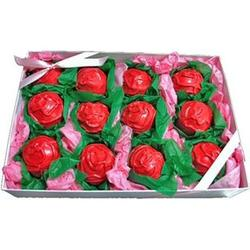 Hand Decorated Mini Rose Shaped Cake Truffles
