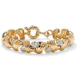 14k Gold Plated Diamond Bracelet