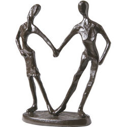 Loving Couple Iron Sculpture
