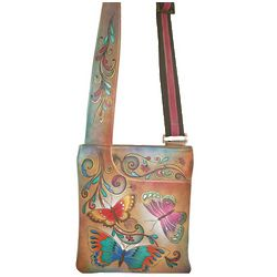 Hand Painted Slim Cross Shoulder Bag