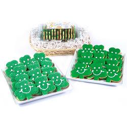 24 St. Patrick's Day Shamrock Cookies Variety Basket