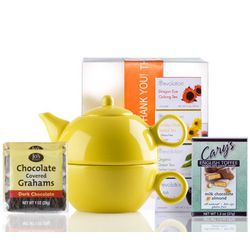 Ceramic Teapot and Cup Gift Set