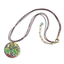 Van Gogh Irises Necklace