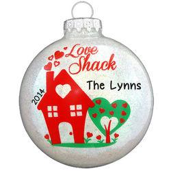 Love Shack Glass Ball Ornament