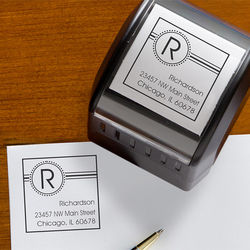 Square It Self-Inking Address Stamper