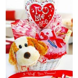 Puppy Love Valentine's Gift Basket