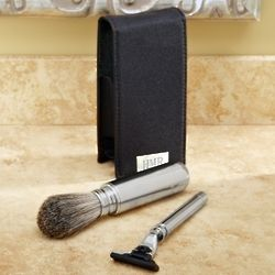 Personalized Travel Badger Brush Shaving Kit