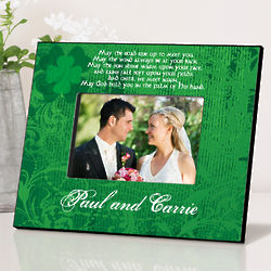 Personalized Irish Blessing Green Picture Frame