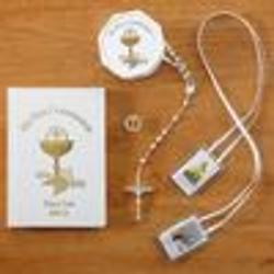 Personalized White First Communion Gift Set